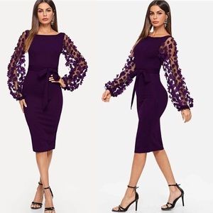 Dresses & Skirts - Purple Elegant Bodycon Dresses For Woman